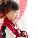 岡山のエーエムフォト|3歳の七五三撮影でお越しのらんちゃん