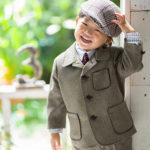 ガーデンフォトで七五三 子供達の自然な笑顔