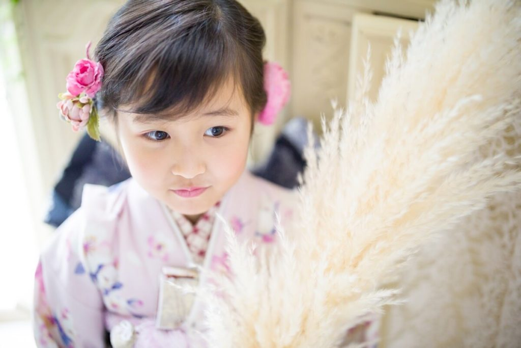 岡山市のエーエムフォト で撮影する七五三の写真と衣装レンタル